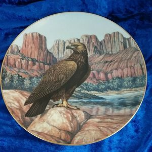 Vintage Hamilton Collection Golden Eagle Plate